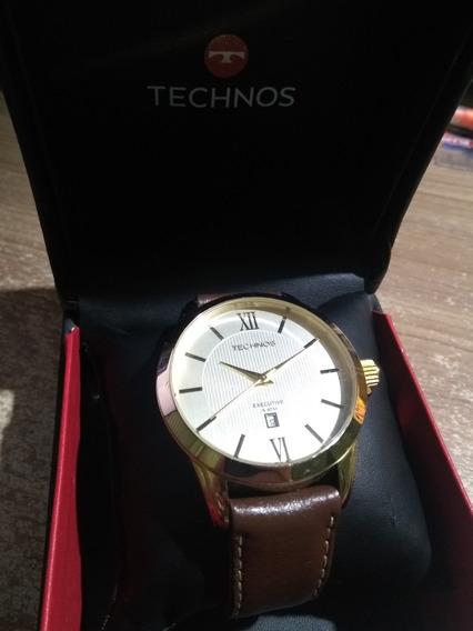 Relógio Technos Executive Couro 5 Atm