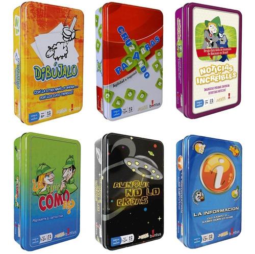 Juegos De Mesa Bontus En Lata Varios Modelos Original Lelab