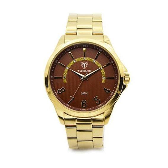 Relógio Feminino Tuguir Analógico 5021 Dourado