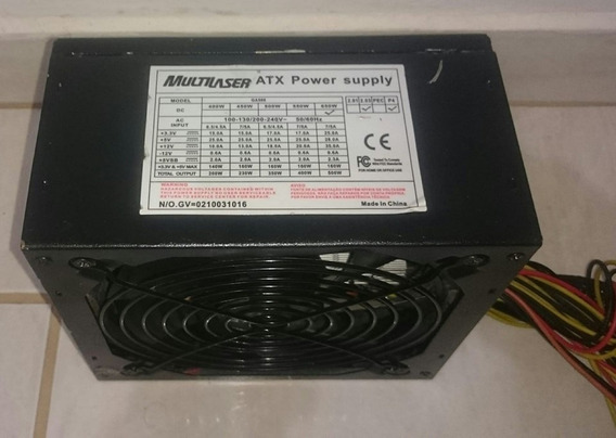 Fonte Atx 650w Multilaser Bivolt Automático Para Pc Gamer