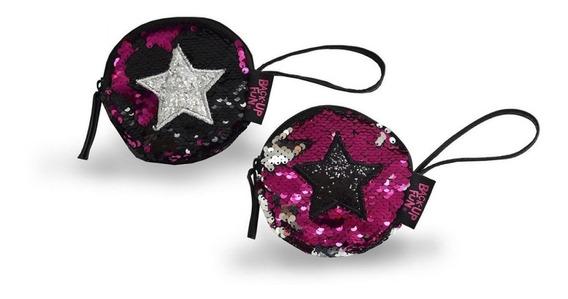 Monedero Sequins Reversible Star 11x11x1 Pf 0522