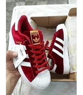 adidas Superstar Plush Rojas! Originales