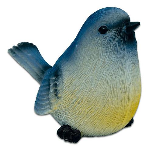 Pássaro Decorativo De Resina Realista