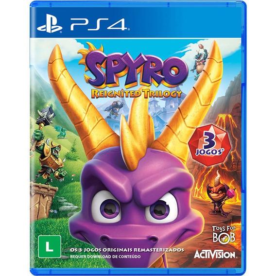 Spyro Reignited Trilogy - Ps4 - Mídia Física - Novo
