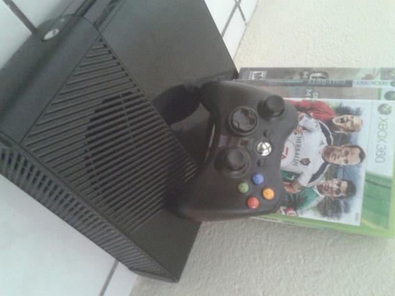 Xbox 360 Semi Novo Travado Com Hd Externo