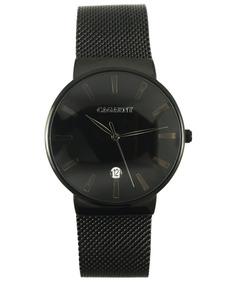 Reloj Cagarny Duo En Negro De Metal Modelo Unisex