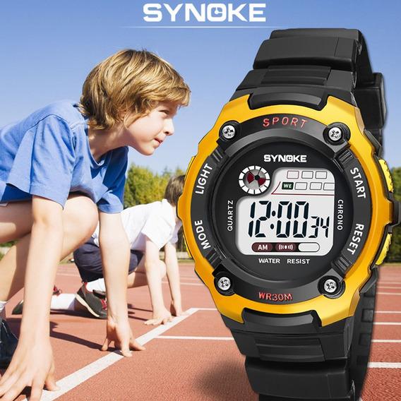 Synoke Digital Relógio Led À Prova D'água Student Relógi