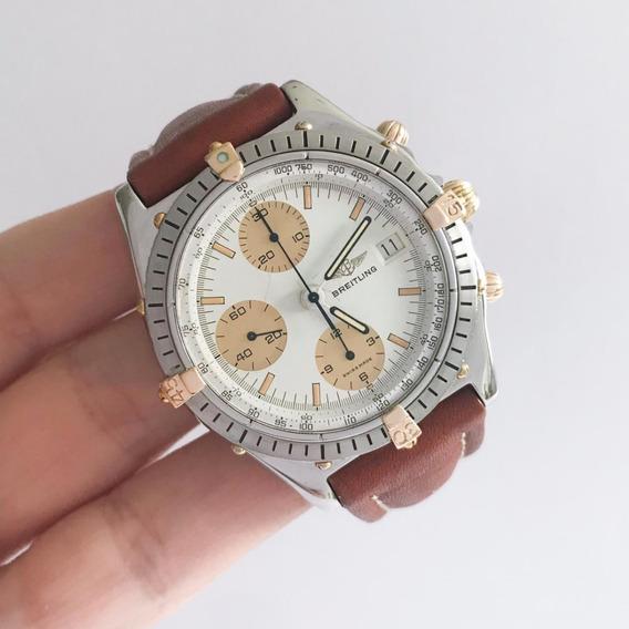 Breitling Chronomat Ouro & Aço Automático Novíssimo