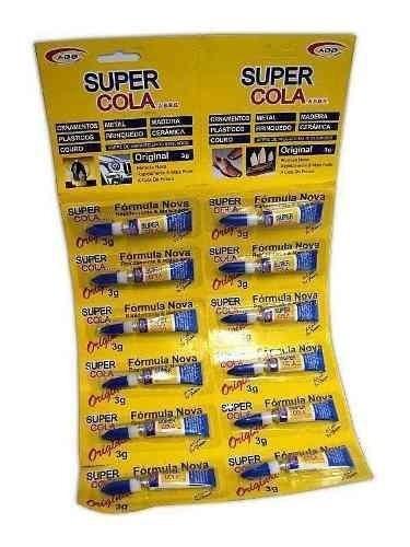Kit 75 Cola Instantânea Cartela C/12 Unidades Super Cola Tud