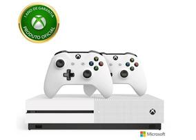 Console Xbox One S 4k Hdr 1tb +2 Controles + 1 Ano Garantia