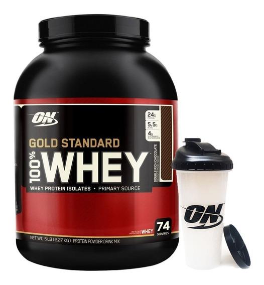 Proteina Whey Gold Standard 5 Lb + Vaso Optimum