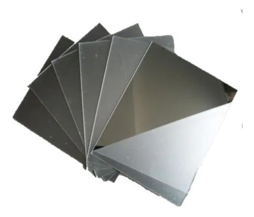 Chapa Espelho Acrilico 100x50cm 2mm + Resistente Que Vidro