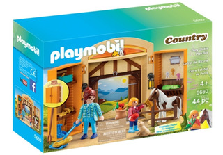 Establo De Ponis Play Box Playmobil Country 5660