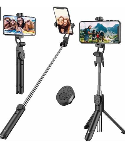 Imagen 1 de 4 de Palo Selfie Inalámbrico Portátil Con Bluetooth + Trípode