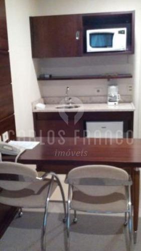 Imagem 1 de 6 de Flat Com 1 Dormitório À Venda, 28 M² - Chácara Santo Antônio - Sp - Cf69442