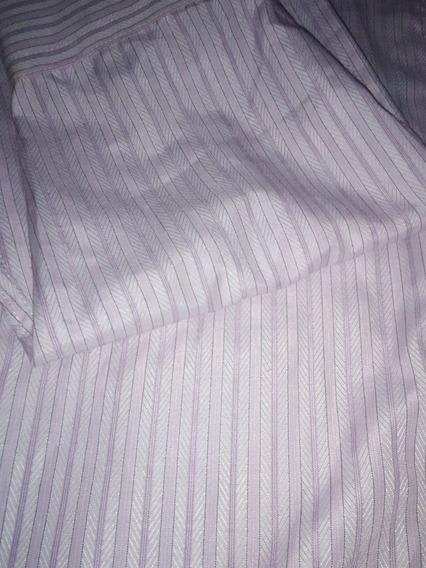 Camisa De Vestir Satinada Enzo Romano Talla S