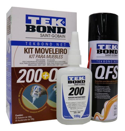 Kit Moveleiro - Adesivo Instantâneo E Acelerador De Secagem