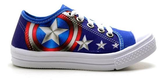 Tenis Avengers Infantil Capitão América Molecada