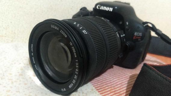 T3i + Lente Sigma 18-200mm Apenas 11k Clicks Em Ótimo Estado