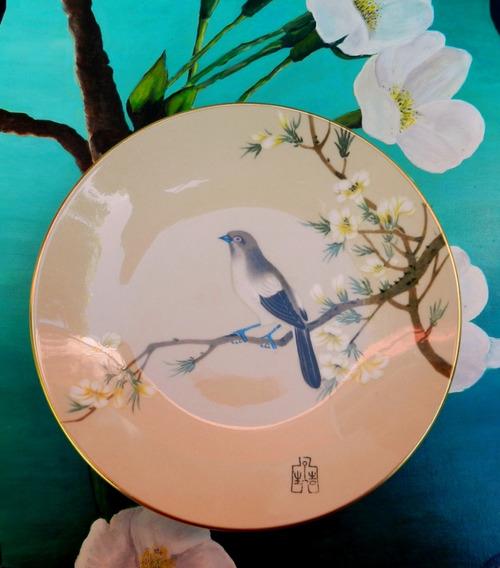 Plato Decorativo En Porcelana Inglesa Coalport * Pekin *