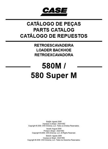 Catalogo De Peças Case 580m 580m Super Envio Imediato