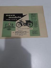 Propaganda Folheto Bicicleta Moto Leonette Jawa Raríssimo!!