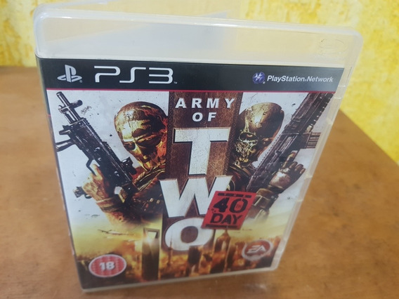 Army Of Two 40 Day Usado Manuais Ps3 Mídia Física