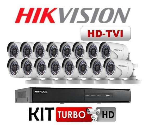 Kit Hikvision Turbo Hd Dvr 16 Ch C/ 16 Câmeras 720p + Hd 1tb