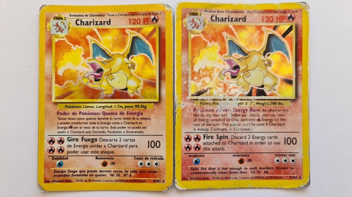 Carta Pokémon - Charizard Base Set - Pack 2×1