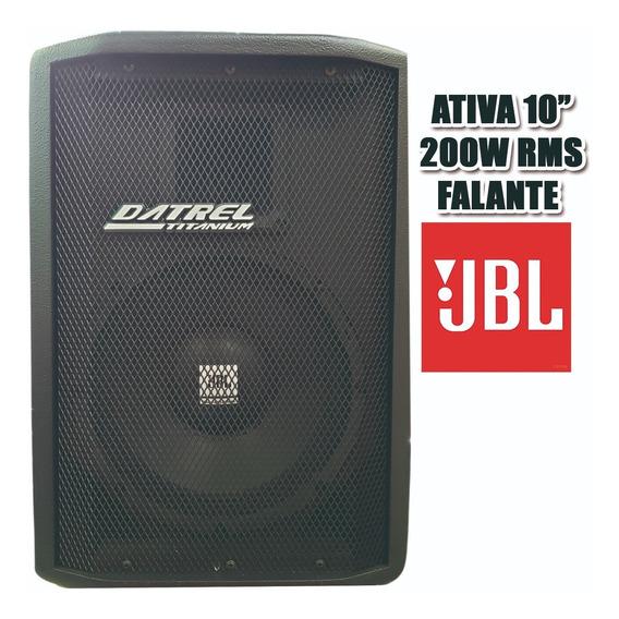 Caixa Ativa Amplificada Som 10 Usb Bluetooth 200w Rms *jbl*