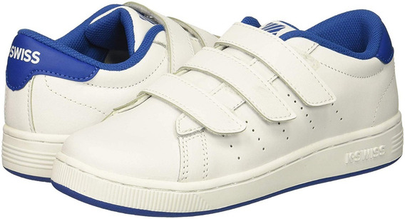 Tenis K-swiss Classic Clean Court 3 Strap Vintage Blancos Wh
