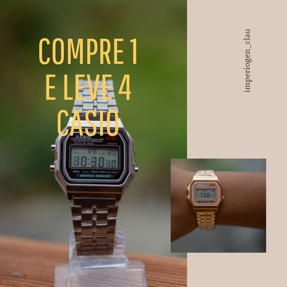 Relógio Casio Retro Vintage Aço Varias Cores Compre 1 Leve 4