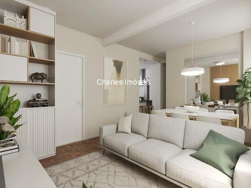 Apartamento À Venda No Higienópolis, 90 M², 2 Dormitórios, 1 Suíte, 1 Vaga De Garagem - Ap00810 - 69312872