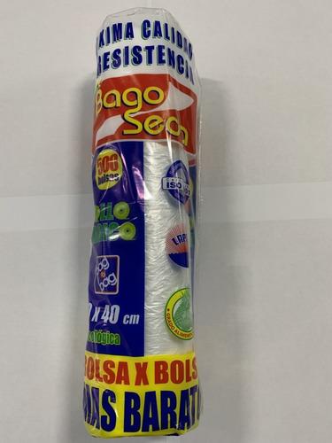 Imagen 1 de 1 de Bolsa En Rollo Bagoseda 30x40 Bulto Con 20 Piezas