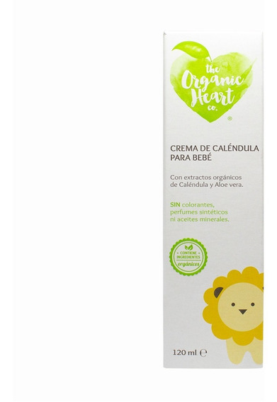 Crema Caléndula Para Bebé The Organic Heart 120ml 6 Pack