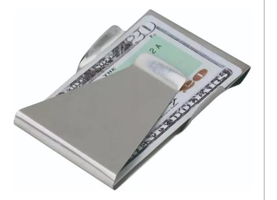 Money Clip Acero Inoxidable Cartera Sujeta Billetes Tarjetas