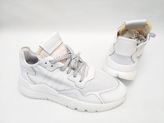 Tênis adidas Nite Jogger Refletivo Branco Boost Original