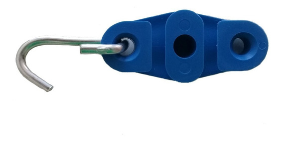 100 Esticador Rede Utp Fe Cabo Fio Fibra Drop Azul Fig 8