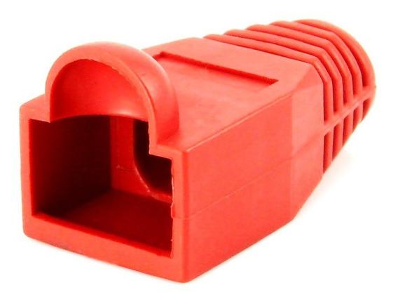 Capa Protetora Borracha Conector Rj45 Vermelha Kit C/ 200