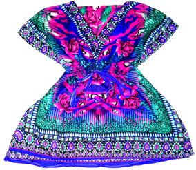 Vestido Túnica Indiana Feminina Saída De Praia