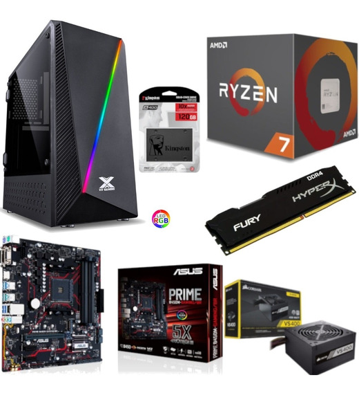 Pc Pyxis Ryzen R7 2700 B450m Gaming Hx 4gb Vs400 Ssd 120gb