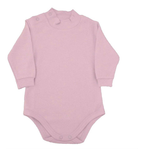 Body Infantil Com Gola Alta - Rosa Bebê- Piu Piu