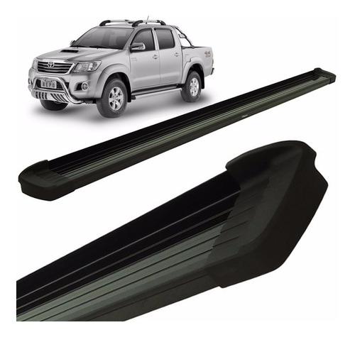 Estribos Aluminio Negro Bepo P/ Toyota Hilux 2005 2010 2015