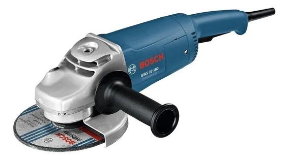 Esmerilhadeira angular Bosch Professional GWS 22-180 azul 127V