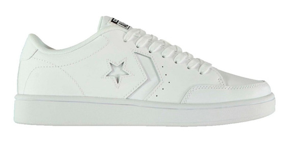 Zapatillas Converse All Star Court Ox 159802c Cuero Blancas