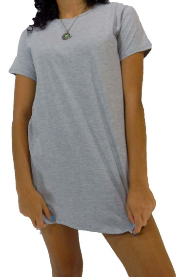 Kit Com 3 Camisetas Feminina Oversized Longline Swag