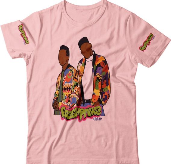 Blusas Camiseta Will Smith Feminina Rosa Um Maluco No Pedaço