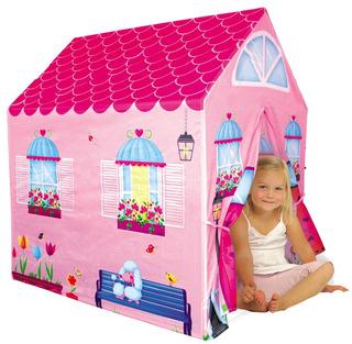 Casita Carpa Infantil Niños Modelo Casa Rosa Marca Iplay