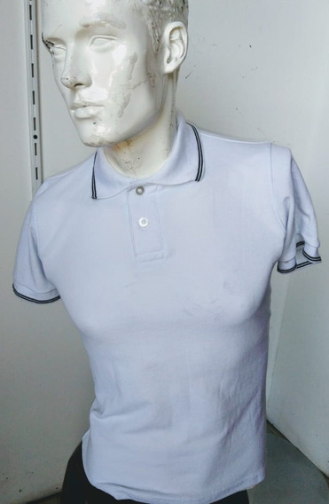 Playera Blanca Tipo Polo