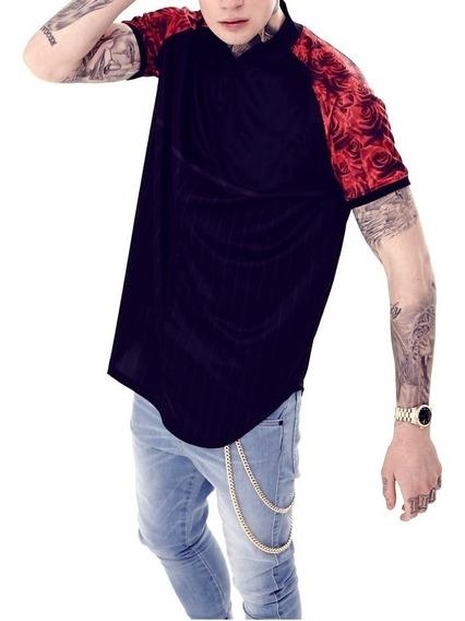 Camisa Camiseta Blusa Longa Oversized Longline Swag V Top
